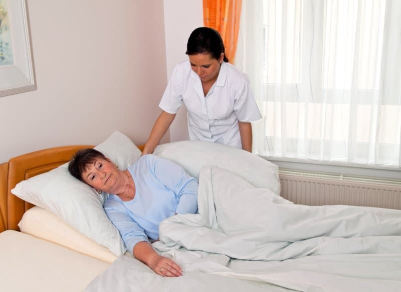 Bed repositioning to prevent pressure sores