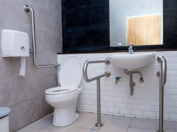 Grab Rails in Bathroom