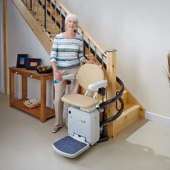 Handicare Sterling 2000 stairlift for curved staircase
