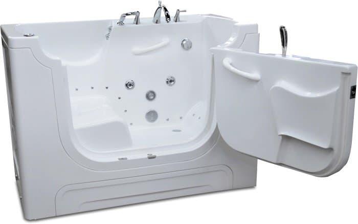 Hydrotherapy walk-in bathtub