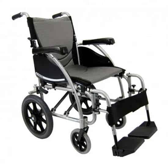 Karman S-115 ergonomic transport wheelchair