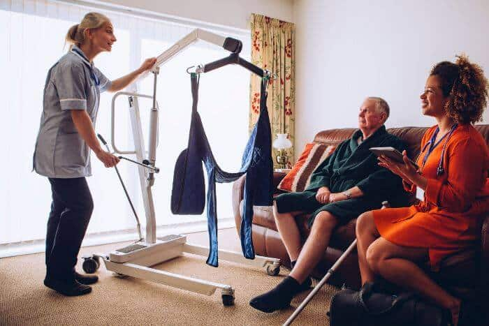 Mobile patient lifts for home use