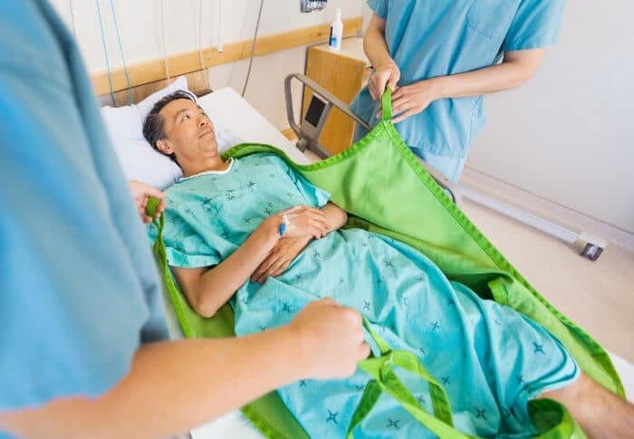Lift slings for patient transfers